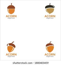 Acorn logo illustration vector template