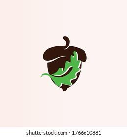 Acorn simple logo creative illustration vector icon template