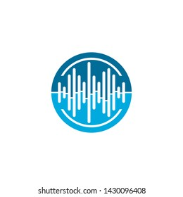 acoustic audiology logo medical and healthcare vector