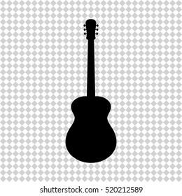 Acoustic guitar - black  vector icon