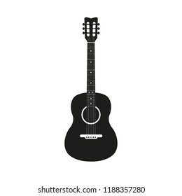 Acoustic guitar icon. Vector illustration.