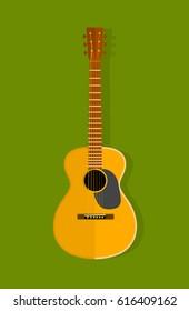 Acoustic guitar instrument.