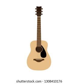 Acoustic Guitar on white background.Vector illustration