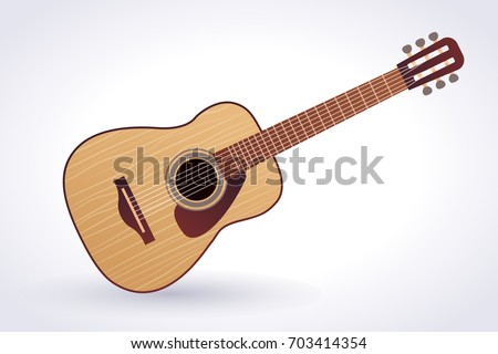 Acoustic Guitar Vector Clip Art Stock Vector Royalty Free