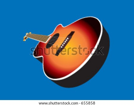 782dff200f1e An acoustic guitar in vector format. Sunburst finish can be changed to any  colour you wish for a customised look. - Vector