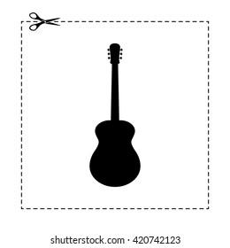 acoustic guitar vector icon