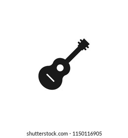 acoustic guitar vector icon. classic, instrument, musical, rock, sound, acoustic, string, play, electric, concert, song, musician, guitarist symbol for web and mobile app
