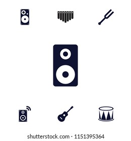Acoustic Icon Collection 13 Acoustic Filled Stock Vector