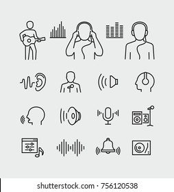 Acoustics and sound vector icons