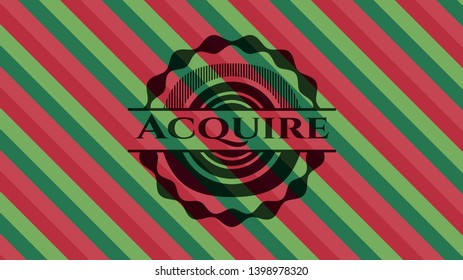 Acquire christmas colors emblem. Vector Illustration. Detailed.