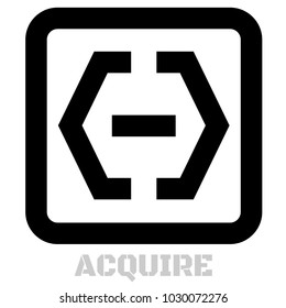Acquire conceptual graphic icon. Design language element, graphic sign.