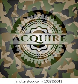 Acquire on camo pattern. Vector Illustration. Detailed.