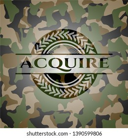 Acquire on camouflage pattern. Vector Illustration. Detailed.
