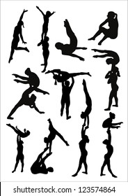 acrobatic girls
