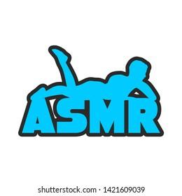 Acronym ASMR - Autonomous Sensory Meridian Response. Health care conceptual image. Woman silhouette