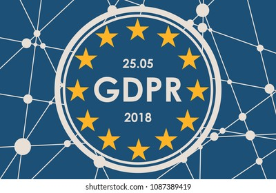 Acronym GDPR - General Data Protection Regulation. Internet conceptual image. Cyber security and privacy.