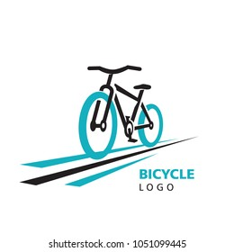 Action drive Bicycle and stripes logo vector
