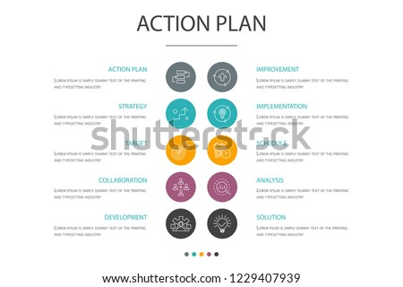 action plan presentation template cover layout stock vector royalty