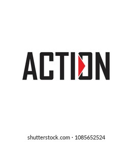 ACTION text logo icon