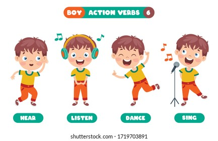 Action Verbs For Children Education
