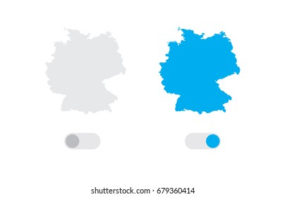 An Active and Inactive Illustrated Country Shape of  Germany