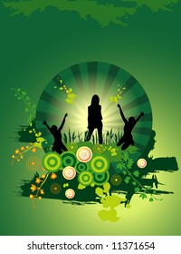 active people vector composition