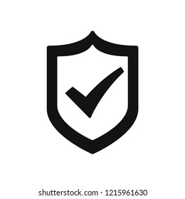Active shield vector icon