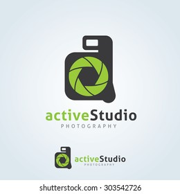 Active Studio Photography Logo Template