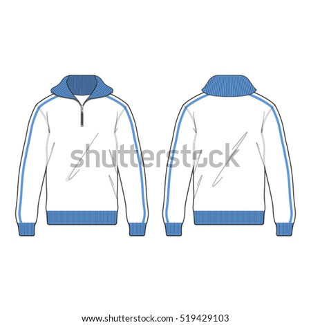 Active Track Sport Jacket Template Stock Vector Royalty Free