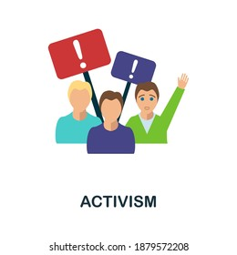 Activism flat icon. Colored filled simple Activism icon for templates, web design and infographics