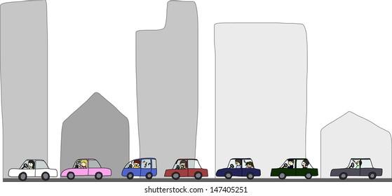 Activities during traffic jam