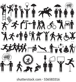 Activities Info Graphic Resource Icon Set