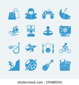 activities vacation icons.Vector eps10