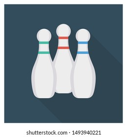 activity flat icon for bowling sport
