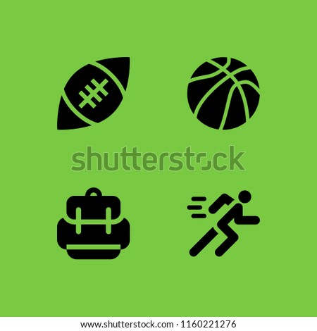 dfb0545397ed Activity Icon 4 Activity Set Backpack Stock Vector (Royalty Free ...