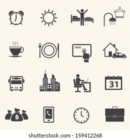 Activity Routine icons set