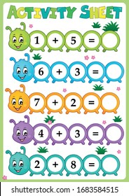 Activity sheet math theme 1 - eps10 vector illustration.