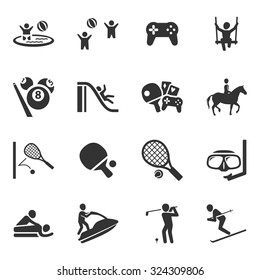Activity Sport Icon Vector Set Collection