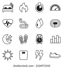 Activity Tracking Icons. Line With Fill Design. Vector Illustration.