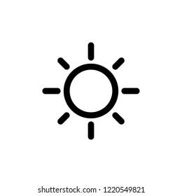 Actual. Sun icon.