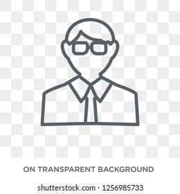 Actuary icon. Trendy flat vector Actuary icon on transparent background from Professions collection. High quality filled Actuary symbol use for web and mobile