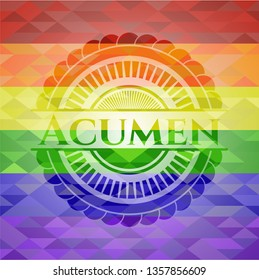 Acumen lgbt colors emblem