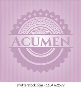 Acumen pink emblem. Vintage.