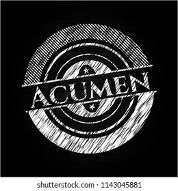 Acumen written on a blackboard