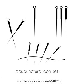 Acupuncture icon vector