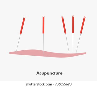 Acupuncture icon vector illustration
