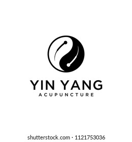 Acupuncture logo symbol which is in the form of yin yang symbol