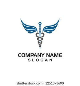 Acupuncture needles as medical symbols for hospital or treatment logo template with vector files.