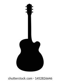 Acustic guitar silhouette - vector pictogram