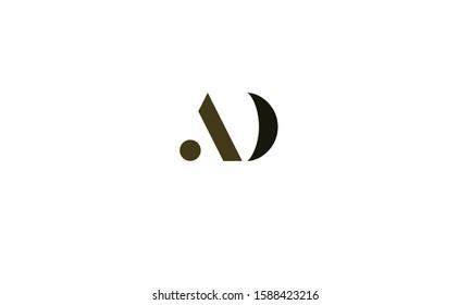 AD abstract vector logo monogram template